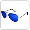 عینک خلبانی شیشه آبی